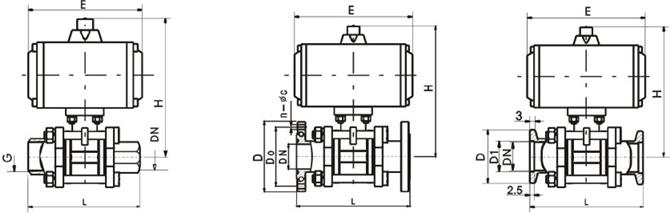 电磁阀,定位器,限位开关,三联件,手动机构      进口气动高真空球阀图片
